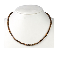 Necklace Bead, Tiger's Eye, 04mm/45cm