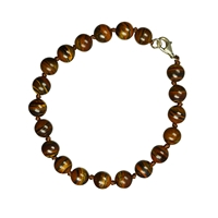Bracelet Beads, Tiger's Eye, 08mm, with Silver Clasp