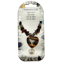 Heart Collier, Tiger's Eye, for Stand-alone display