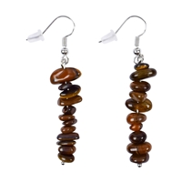 "Earrings Baroque Classic Tiger's Eye ""Perspective"", 1 string"