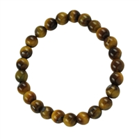 Bracelet Beads, Tiger's Eye, 08mm
