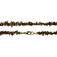 Necklace Chips, Tiger's Eye, 60cm