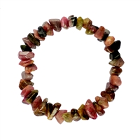 Bracelet Freeform large faceted Tourmaline multicolour
