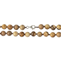 Necklace Beads, Jasper (Picture), 08mm/45cm