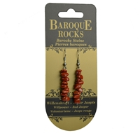 "Earrings Baroque Classic Red Jasper ""Willpower"", 1 string"