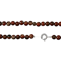 Necklace Beads Jasper (Breccia), 04mm/45cm