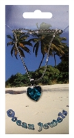 "Pendant ""Heart"", Paua Shell with chain"