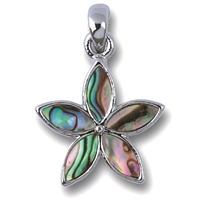 Pendant Blossom, Paua Shell with chain