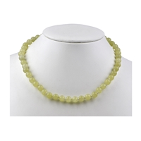 Necklace Beads, Serpentine (China Jade), 08mm/45cm