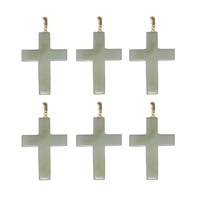 Pendant Cross, Serpentin, 5,0cm (6 pc/VE)