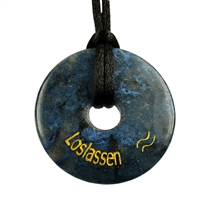 "Wishing Donut ""Loslassen"" (Let go), Dumortierite"