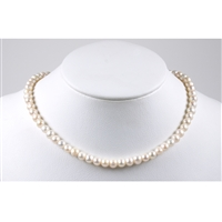 Bead Necklace Pearl 8mm/45cm