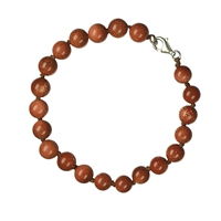 Bracelet Spheres, Sand Stone (snyth. glass), 08mm, with Clasp