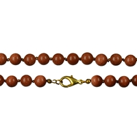 Necklace Beads, Sandstone brown, 08mm/60cm
