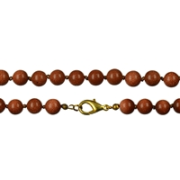 Necklace Beads, Sand Stone brown (synth. glass), 08mm/80cm
