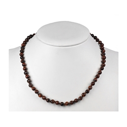 Necklace Beads, Tiger's Eye (red), 8mm/45cm
