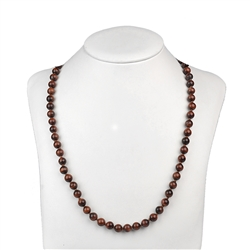 Necklace Beads, Tiger's Eye (red), 8mm/60cm