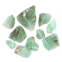 Calcite (green) roh, appr. 0,02 kg/pc