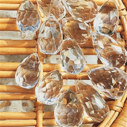 Feng Shui Crystals, Rock Crystal, drop shape, mixed size, 0,5kg pack