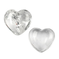 Hearts Rock Crystal mixed size, appr. 3 - 4cm, 0,5kg/VE