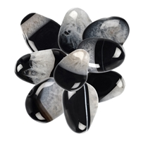 Tumbled Stones Onyx (dyed) with Quartz drilled, appr. 2 - 3cm