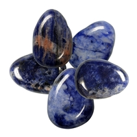 Tumbled Stone Sodalite drilled, appr. 2,6 x 3,3cm