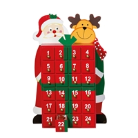 "Advent Calendar  ""Santa & Reindeer"": 24 Tumbled Stones, Sticker and Booklet"