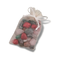 Tumble stone mix in organdy-bag, Stones large, 25 - 30mm, 100g