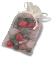 Tumble stone mix in organdy-bag, Stones small, 15 - 20mm, 100g