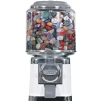 Tumblestone Dispenser with filling of 10 kg large tumblestones and 600 information cards