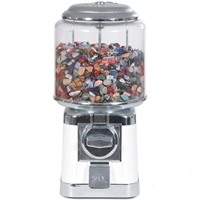 Tumblestone Dispenser with filling of 10 kg small tumblestones and 400 information cards