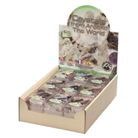 "Pop-Up Display ""Crystals from around the world"" (18 boxes)"