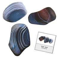 Refill pack Tumble Stones, 24 pieces Agate with accessoires