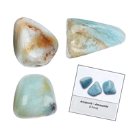 Refill pack Tumble Stones, 24 pieces Amazonite with accessoires