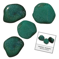 Refill pack Tumble Stones, 24 pieces Aventurine with accessoires