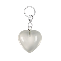 Keychain Heart Rock Crystal
