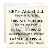 Scull Rock Crystal, appr. 04cm