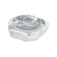 Bowl Rock Crystal with sides rough, appr. 8 x 6,5 x 2,3cm (small)