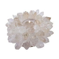 "Candle Holder ""Sun"" Rock Crystal"