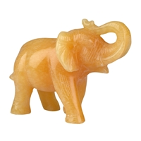 Elephant Calcite orange, appr. 9,5cm