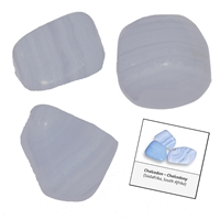 Refill pack Tumble Stones, 24 pieces Lace Agate blue with accessoires