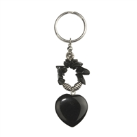 Key chain, Heart, Onyx (coloured), appr. 09cm, for Stand-alone display