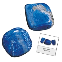 Refill pack Tumble Stones, 24 pieces Lapis Lazuli with accessoires