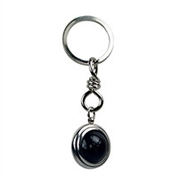 Keychain Sphere Smokey Quartz
