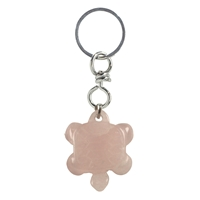 Keychain Turtle Rose Quartz