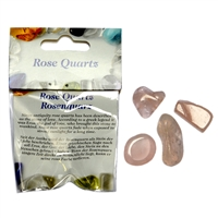 Small-Package, Rose Quartz, Tumbled stones, for Stand-alone display
