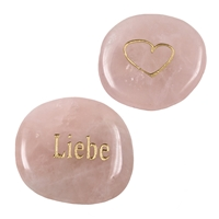 "Wishing Stone ""Liebe"" (Love), Rose Quartz"