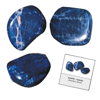 Refill pack Tumble Stones, 24 pieces Sodalite with accessoires