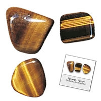 Refill pack Tumble Stones, 24 pieces Tiger's Eye with accessoires