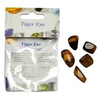 Small-Package, Tiger's Eye, Tumbled stones, for Stand-alone display